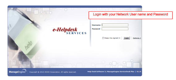 eHelpdesk screenshot