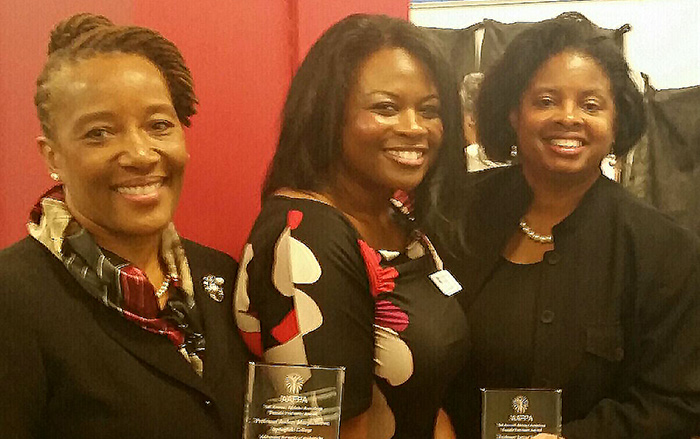 Audrey Murph Brown, Dina Morris and Janine Fondon at award ceremony