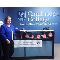 Cambridge College provost Koverola visits Puerto Rico campus