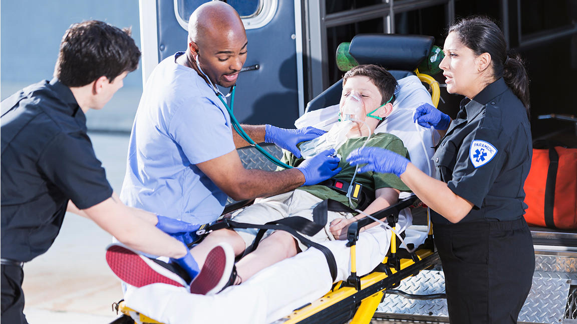 EMT, paramedic and doctor