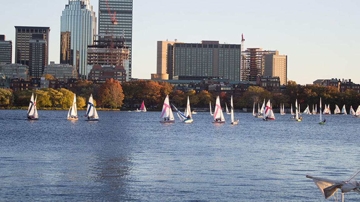 sailboats on Charles River