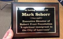 Cambridge College Faculty Member Mark Schorr dedication plaque